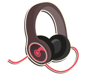 An illustration of headphones