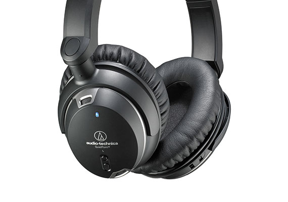 Audio Technica ATH-ANC9 noise cancelling headphones utilise Active Noise Cancellation (ANC) technology to reduce ambient noise by 95% at the lower frequency range of 200hz.