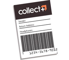 A Collect+ delivery label