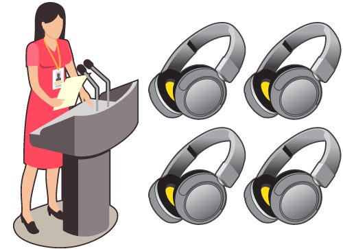 An illustration of Wireless Event Headphones