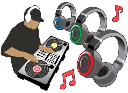 An illustration of Silent Disco Headphones