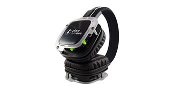 An image of Place Over Ears' Ph020 Silent disco headphones with LED light-up effect and 3 channel audio capability