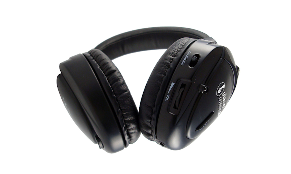 A pair of silent conference headphones