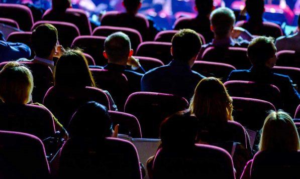An audience enjoying an event