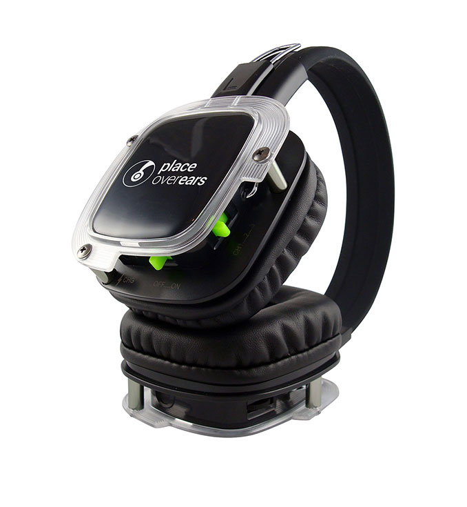 Hire silent disco headphones with 3 channels of audio and LED illumination
